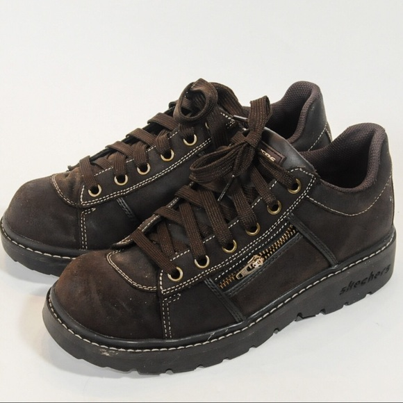 Skechers Shoes   Skechers Brown Lace Up
